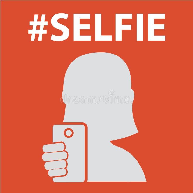Selfie, принимая фото собственной личности иллюстрация штока
