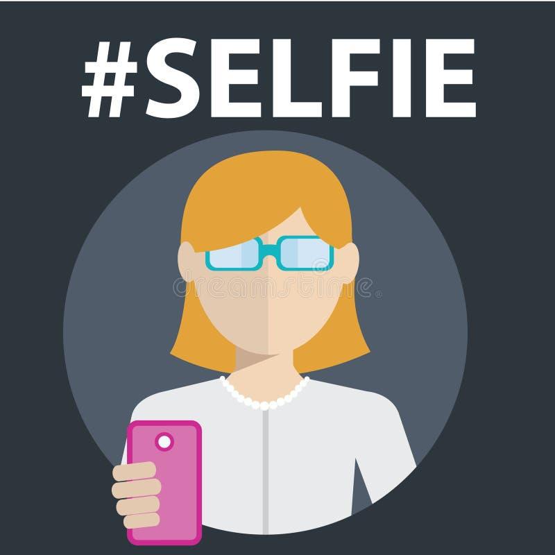 Selfie, принимая фото собственной личности бесплатная иллюстрация