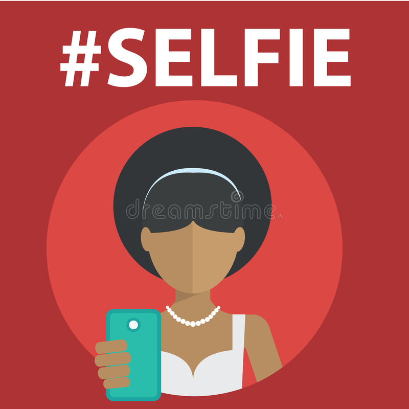 Selfie, принимая фото собственной личности иллюстрация вектора