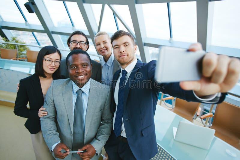 Selfie работников стоковое изображение