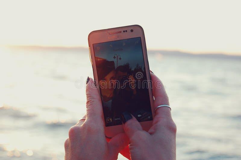 Selfie arkivfoto