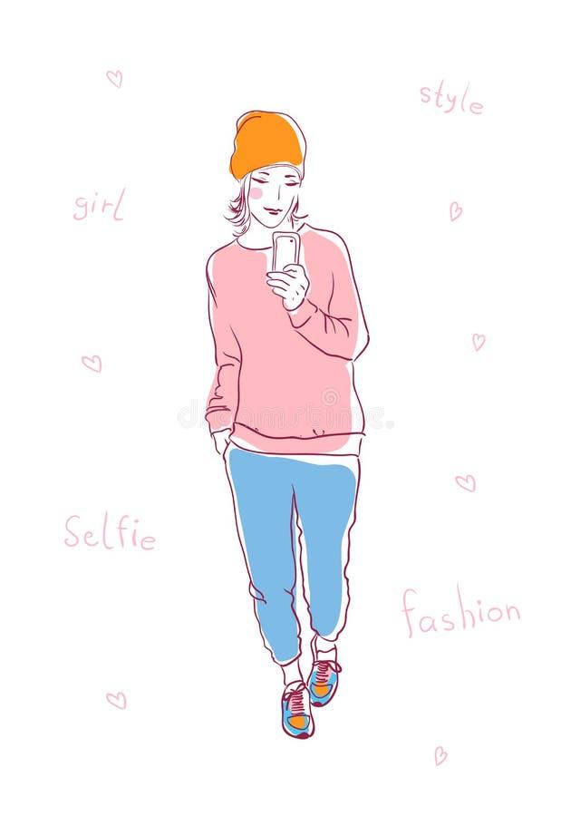 Selfie 库存例证
