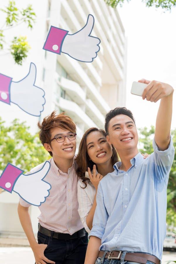 Selfie photo libre de droits