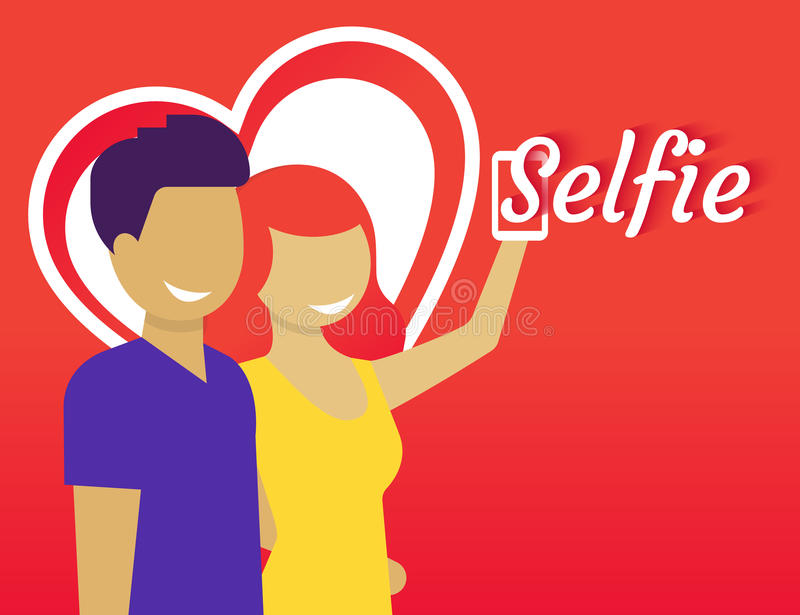 Selfie vector illustratie