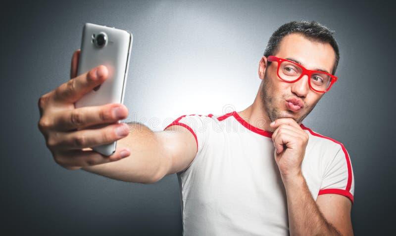 Selfie stock foto's