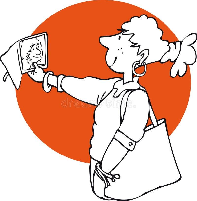 Selfie illustration de vecteur