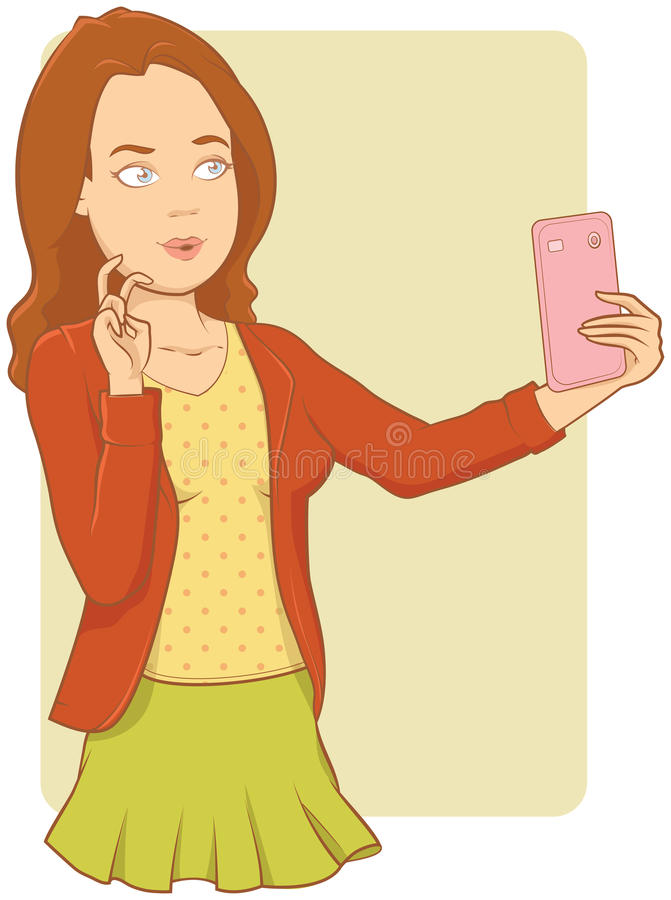 Selfie illustration stock