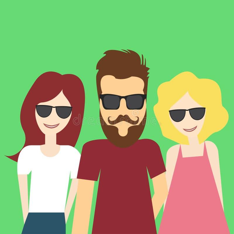 Selfie ilustración del vector