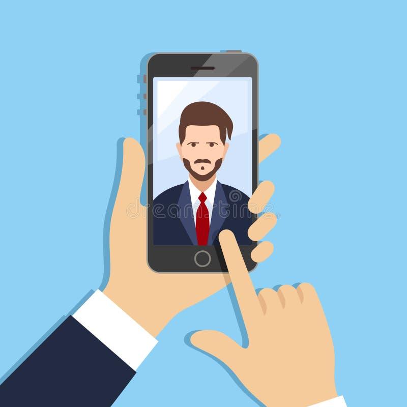 Selfie διανυσματική απεικόνιση