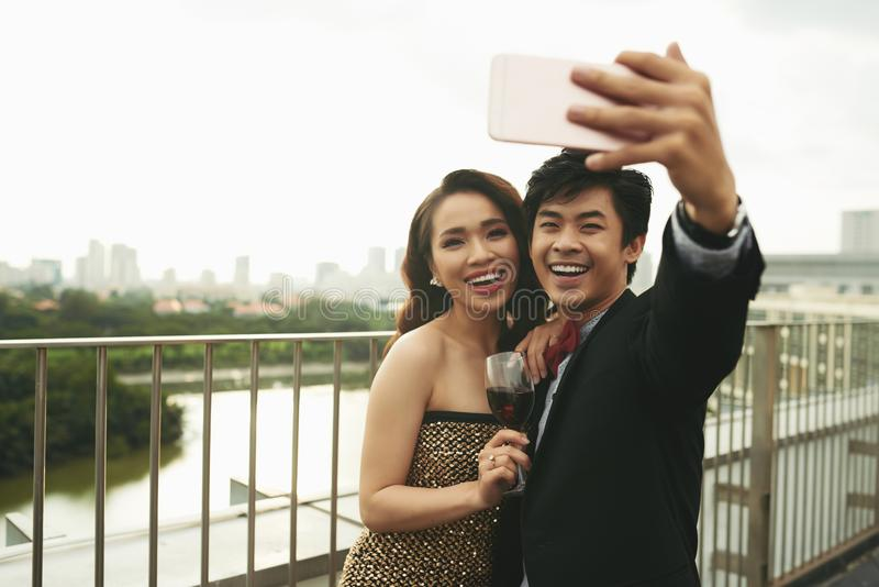 Selfie fotos de archivo
