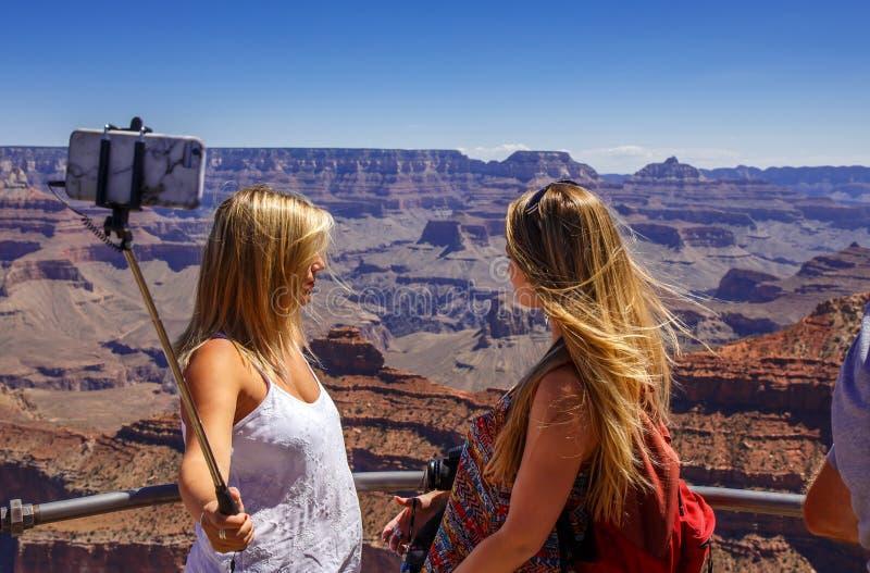 Selfie avec le canyon de mamie photos libres de droits