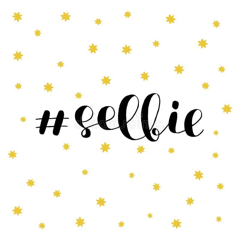 Selfie Borstebokstäver stock illustrationer