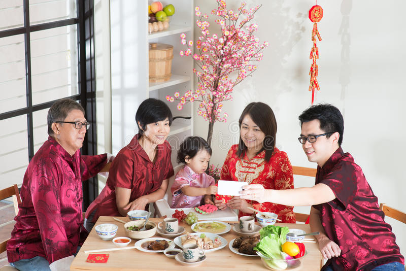 Multi Generations Asian Family Celebrate Chinese New Year ...