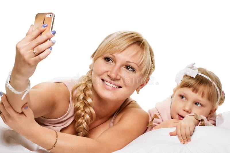 Selfie d'heure du coucher photographie stock libre de droits