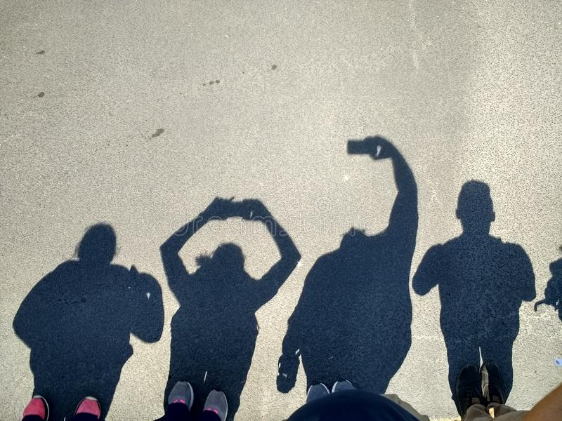 Selfie d'ombre photos stock