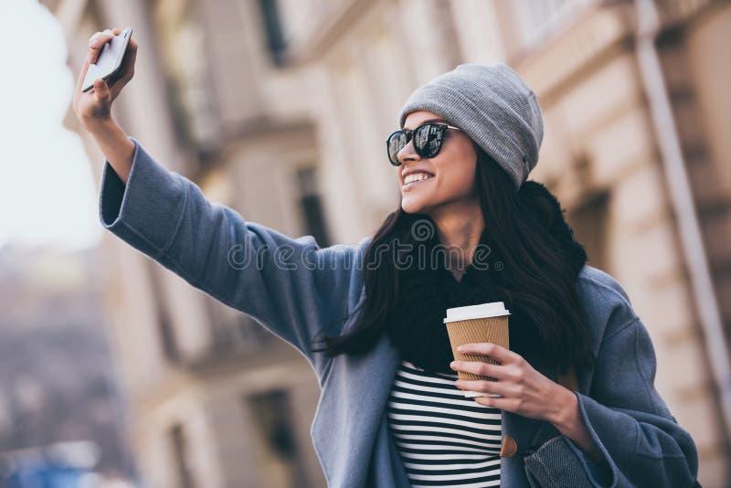 Selfie da beleza! foto de stock royalty free