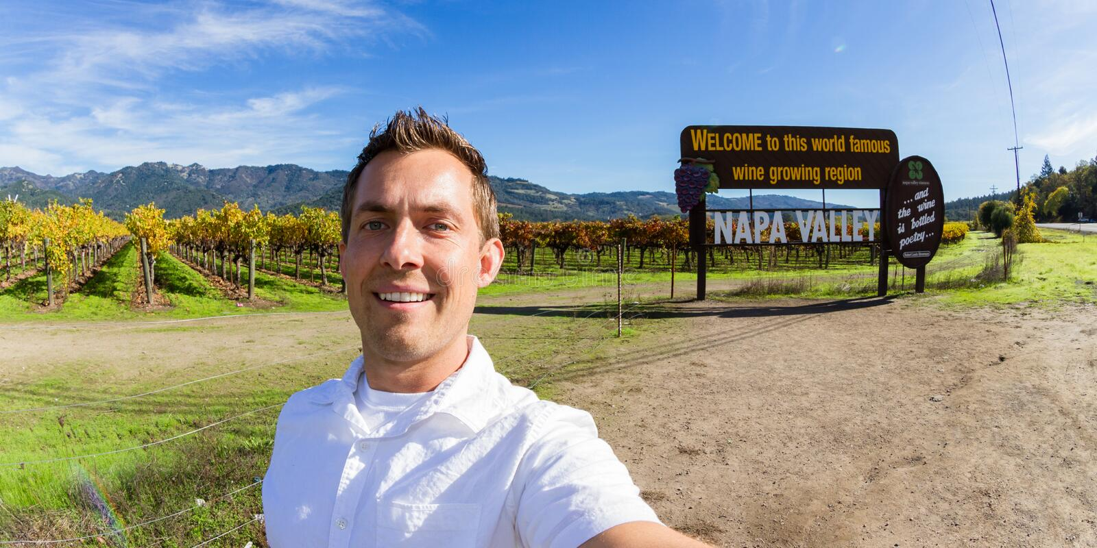 Selfie dans Napa Valley photos stock
