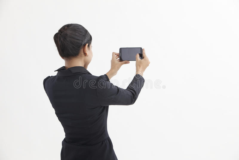 Selfie de femme image stock