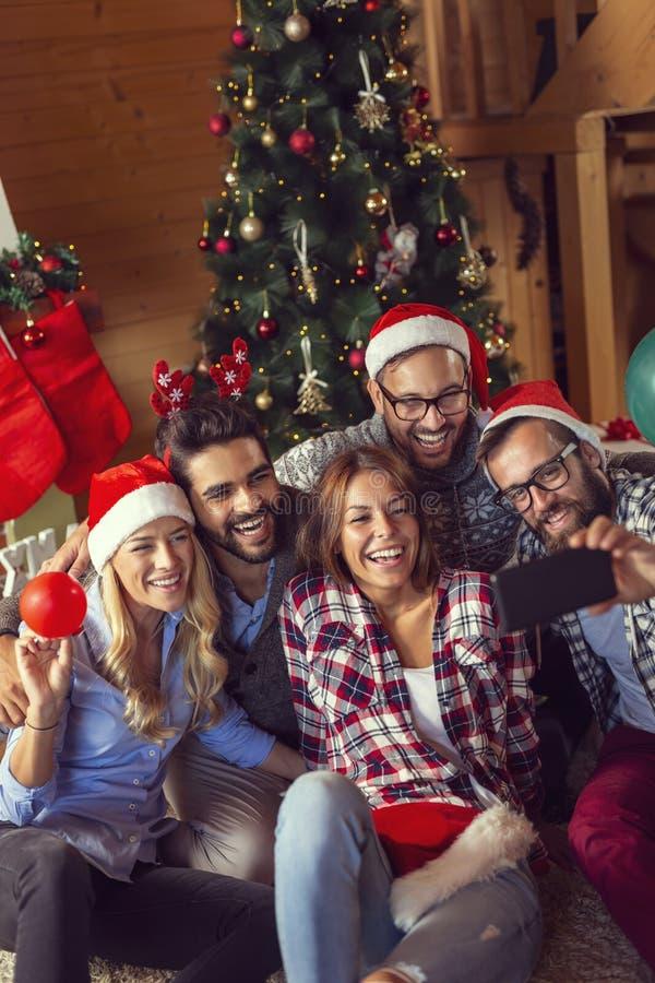 Selfie de Noël photo libre de droits
