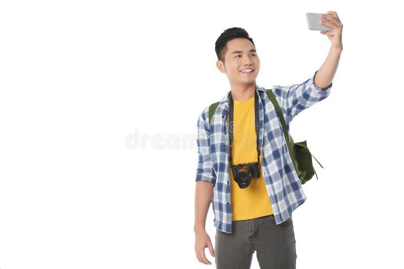 Selfie de prise de touristes asiatique photo stock