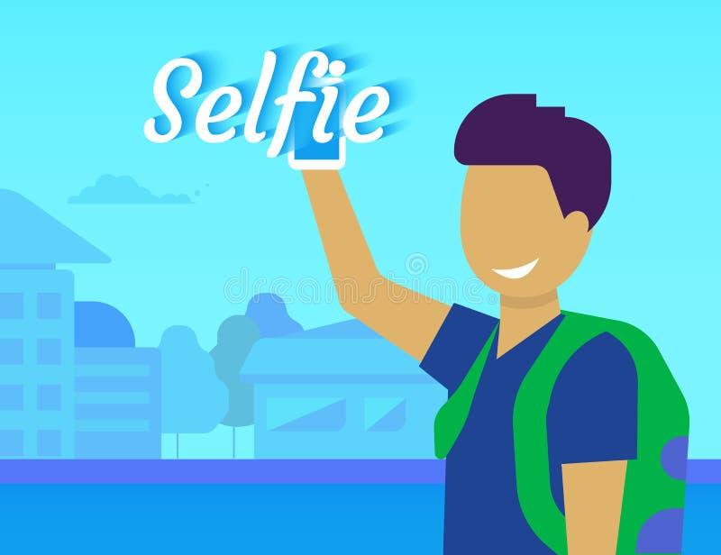 Selfie del individuo divertido libre illustration
