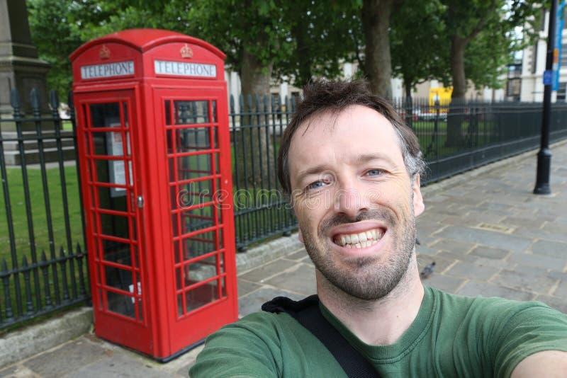 Selfie del turista di Londra immagini stock