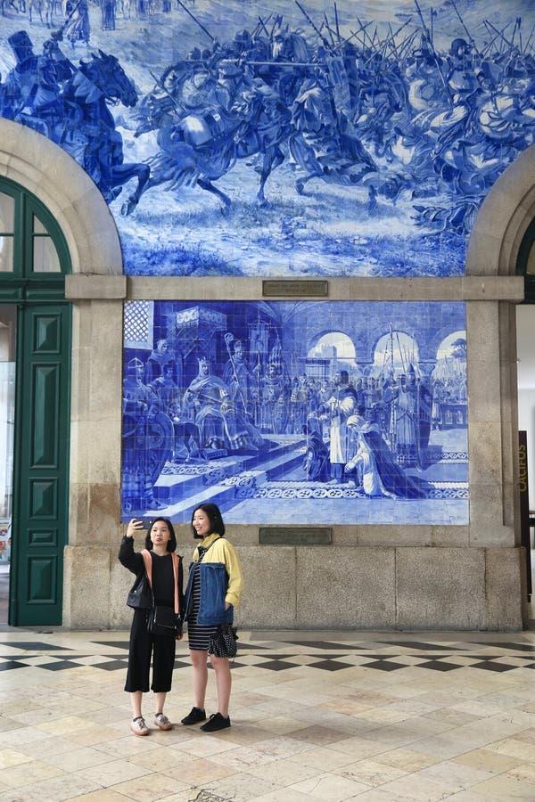 Selfie del turista di Oporto immagine stock
