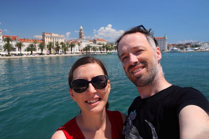 Selfie delle coppie della Croazia immagini stock