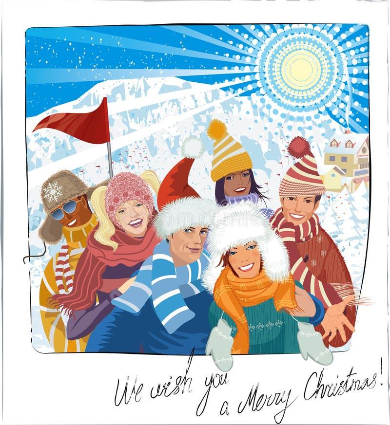Selfie des vacances de Noël image libre de droits