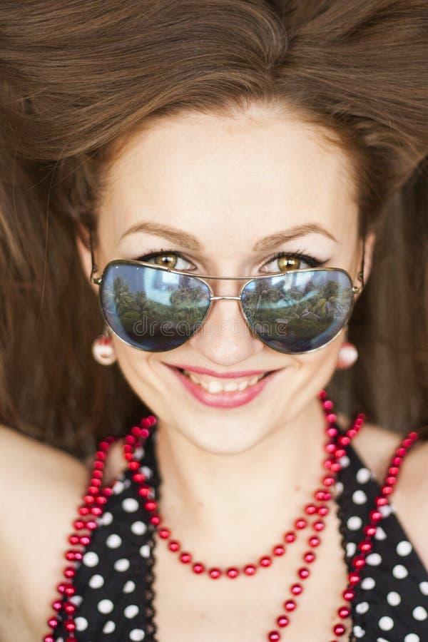 Selfie dziewczyna retro piękny deushka fotografia royalty free