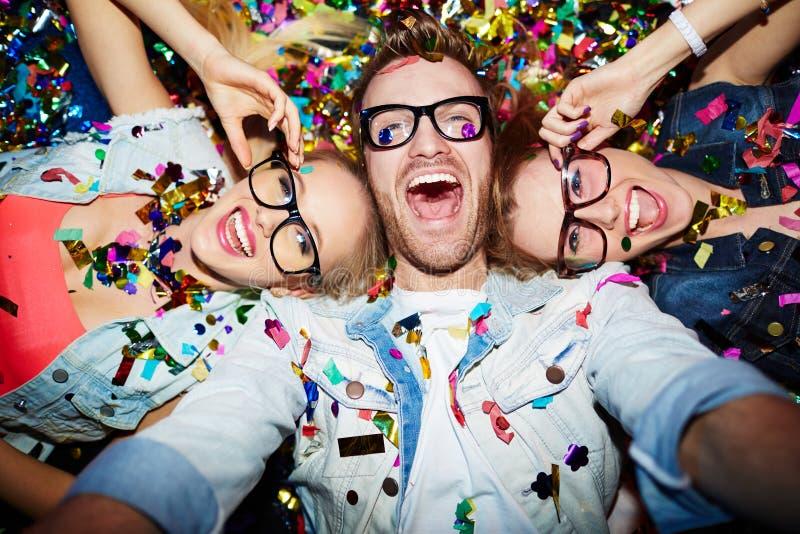 Selfie en club nocturno fotografía de archivo