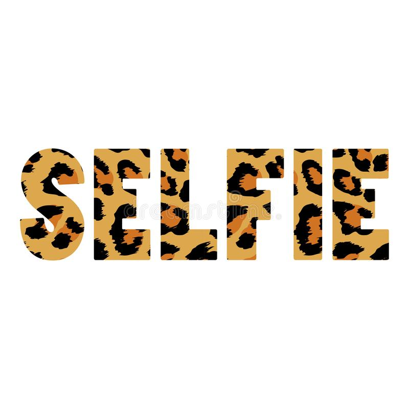 Selfie - Hand drawn typography poster. vector illustration