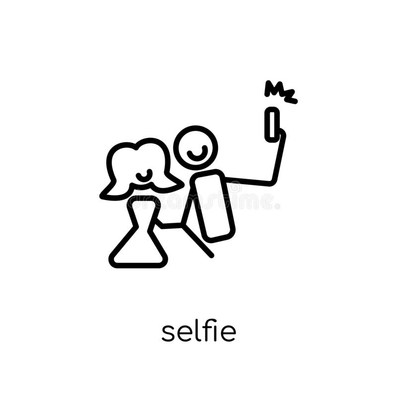 Selfie icon from Birthday and Party collection. vector illustration