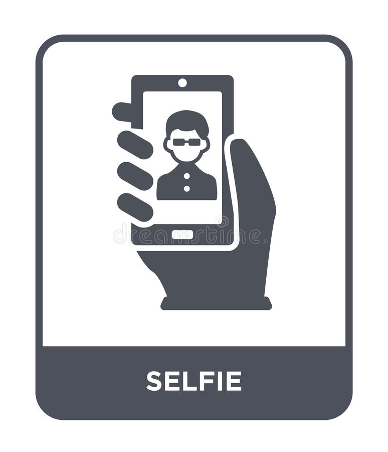 selfie icon in trendy design style. selfie icon isolated on white background. selfie vector icon simple and modern flat symbol for stock illustration