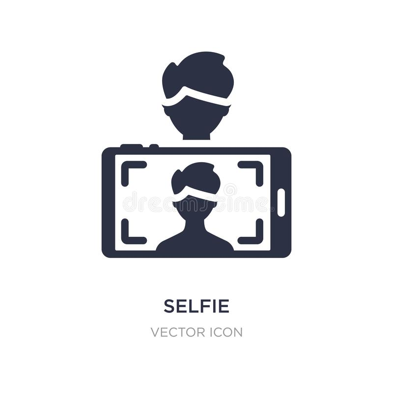 Selfie icon on white background. Simple element illustration from Blogger and influencer concept. Selfie sign icon symbol design vector illustration