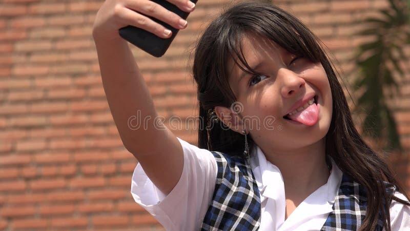 Selfie Latynoska dziewczyna zdjęcie stock
