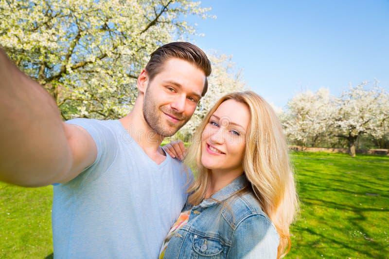 Selfie, man, woman, couple, friends stock images