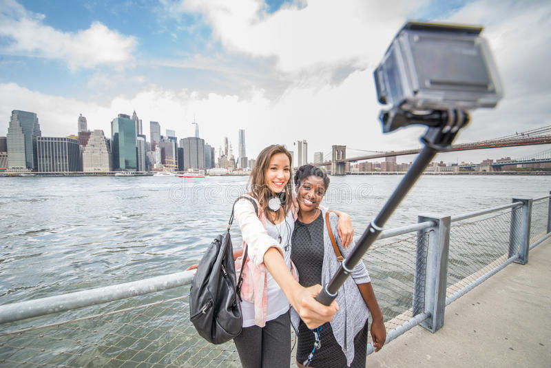 Selfie in Manhattan stock foto