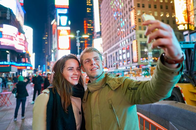 Selfie a New York fotografia stock libera da diritti