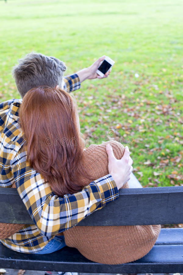 Selfie in the Park royalty free stock photos