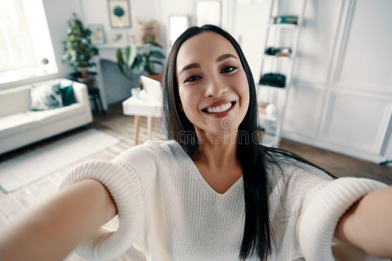 Selfie perfecto imagen de archivo
