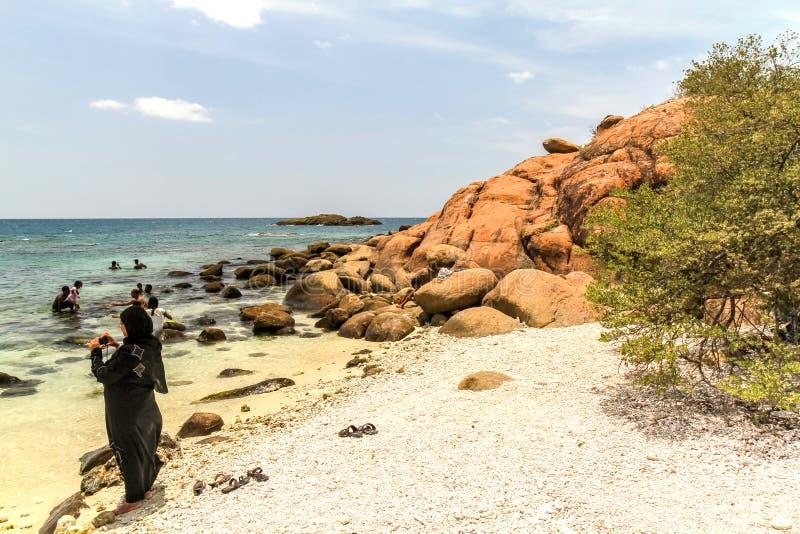 Selfie at Pigeon Island, Sri lanka royalty free stock photo