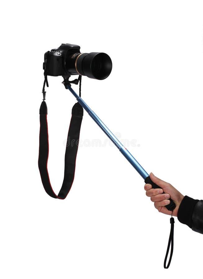 Selfie pinne fotografering för bildbyråer