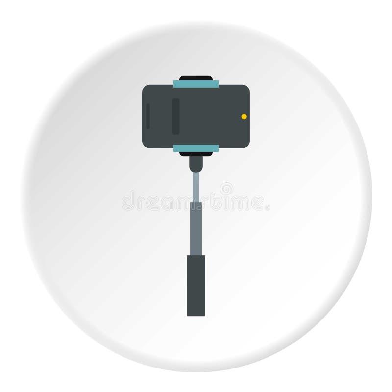 Selfie pinne med fotokamerasymbolen, lägenhetstil royaltyfri illustrationer