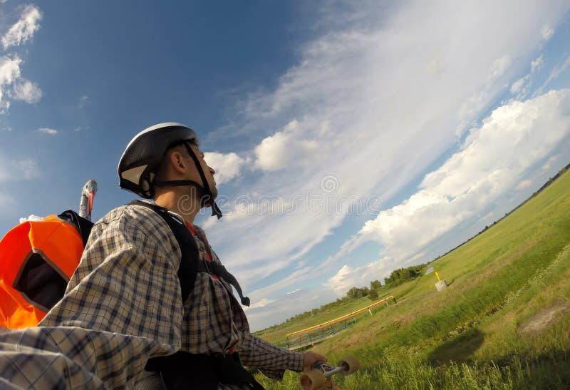 Selfie podróżnik, natura spacer obrazy royalty free