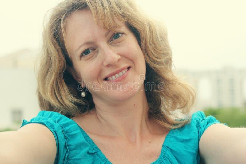 Download Selfie portrait stock photo. Image of creativity, blissful - 61142632