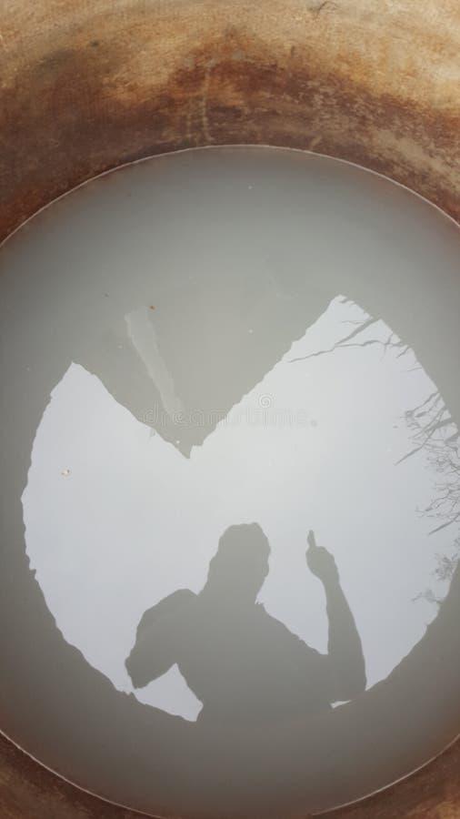 Selfie reflexion royaltyfri fotografi