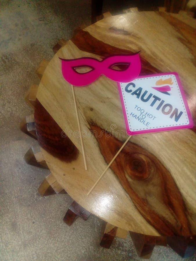 Selfie Stick - Organic Table stock photography