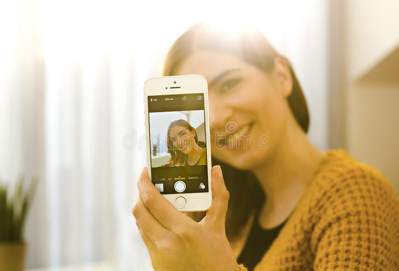 Selfie time royalty free stock photography