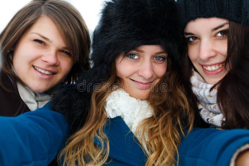 Selfie utveckling royaltyfri fotografi